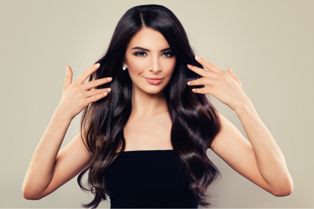 Woman - beautiful, healthy hair, skin and nails