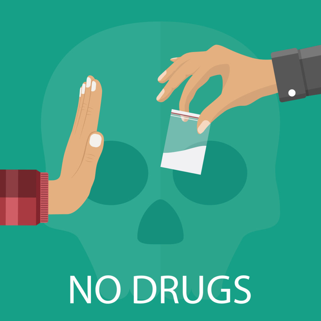 Say no to cocaine and drugs