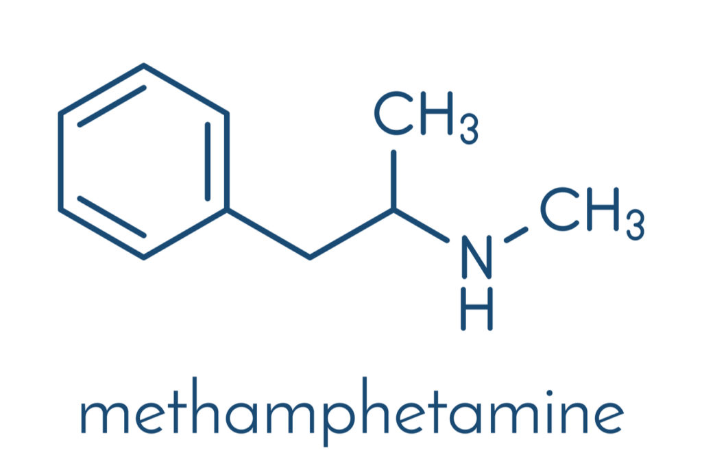 Methamphetamine chemical structure
