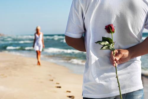 Romance on a beach