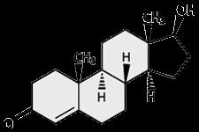 Testosterone molecule