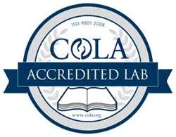 COLA Accredited Lab certification