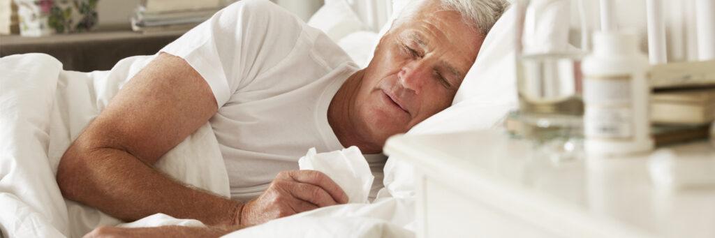 sleeping sick man